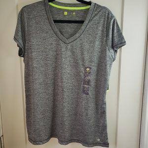 Xersion Gray Size XL Quick Dri Athletic Top